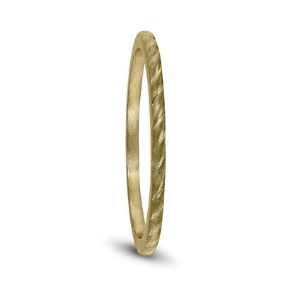 Thin 1MM Rope Center Wedding Band in 14K Yellow Gold