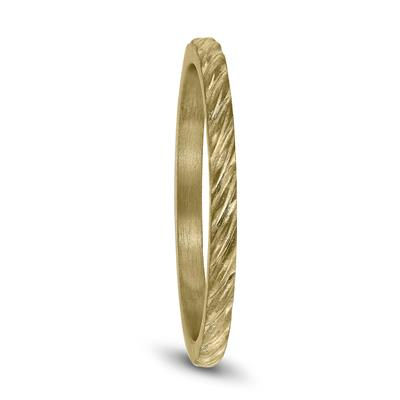 1.5MM Thin Rope Twist Wedding Band in 14K Yellow Gold