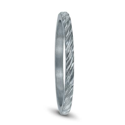1.5MM Thin Rope Twist Wedding Band in 14K White Gold