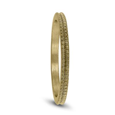1.5MM Thin Beaded Wedding Band in 14K Yellow Gold