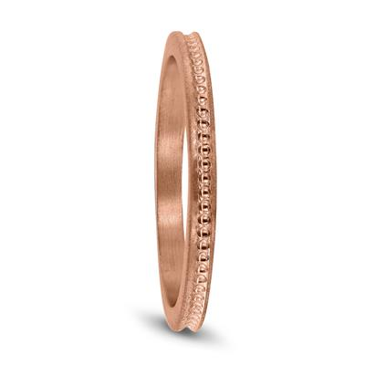 Thin 1.5MM Wedding Band in 14K Rose Gold
