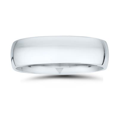 7mm Classic Domed Comfort Fit Wedding Band in 950 Platinum