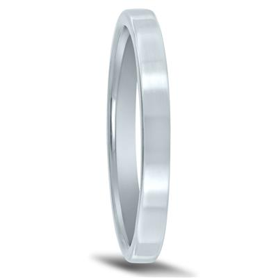 2mm Flat Comfort Fit Wedding Band In 950 Platinum