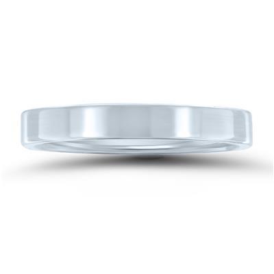 3mm Flat Comfort Fit Wedding Band In 950 Platinum