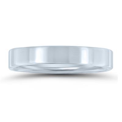 4mm Flat Comfort Fit Wedding Band In 950 Platinum