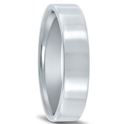 5mm Flat Comfort Fit Wedding Band In 950 Platinum