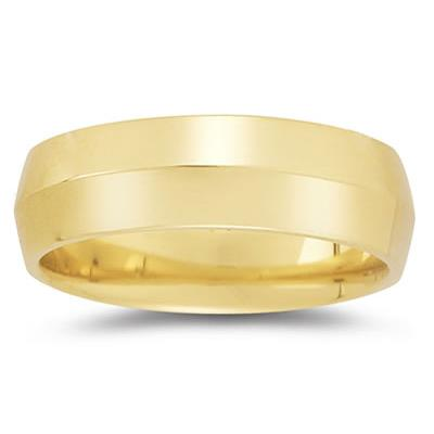 7 mm Knife Edge Comfort-Fit Wedding Band in 14k Yellow Gold