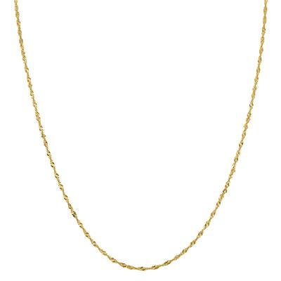 10K Yellow Gold 1.7mm Singapore Chain with Spring Ring Clasp - 24 Inch